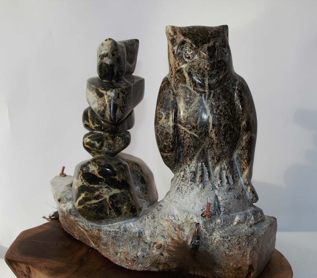The sentinels arctic stone carving